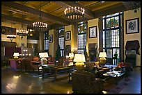 Lounge, Ahwahnee lodge. Yosemite National Park, California, USA.