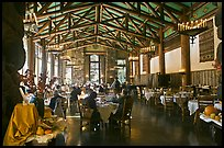 Dinning room, Ahwahnee lodge. Yosemite National Park, California, USA. (color)