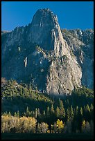 Sentinel Rock, late afternoon. Yosemite National Park, California, USA. (color)