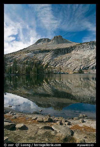 Mount Hoffman reflected in May Lake. Yosemite National Park (color)