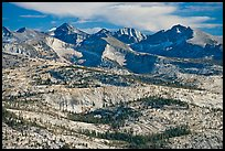 Granite slabs and mountains. Yosemite National Park ( color)