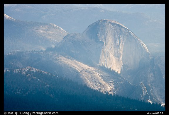 Hazy view of Half-Dome. Yosemite National Park, California, USA.