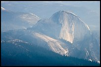 Hazy view of Half-Dome. Yosemite National Park, California, USA. (color)