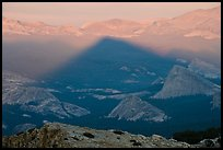 Shadow cone of Mount Hoffman at sunset. Yosemite National Park, California, USA. (color)