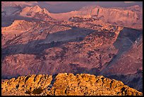 Granite ridges at sunset. Yosemite National Park, California, USA. (color)