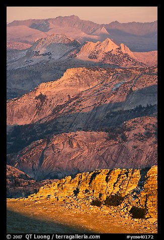 High country ridges at sunset. Yosemite National Park (color)