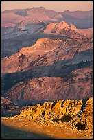 High country ridges at sunset. Yosemite National Park, California, USA.