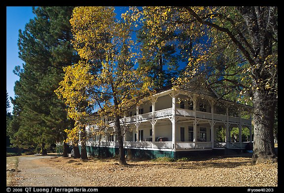 Wawona lodge in autumn. Yosemite National Park (color)