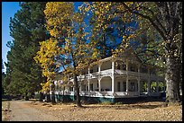 Wawona lodge in autumn. Yosemite National Park, California, USA.