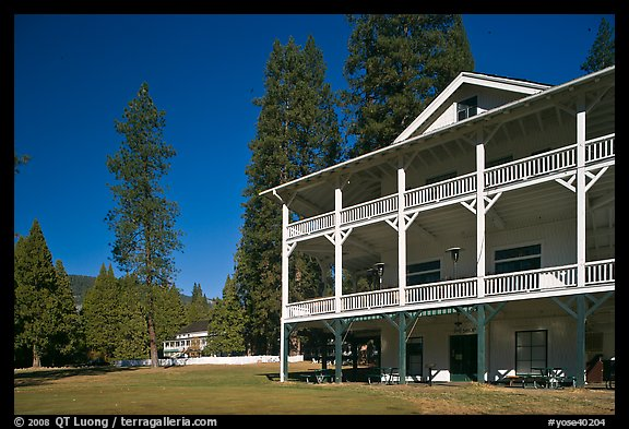 Wawona lodge. Yosemite National Park (color)