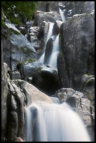 Cascading water in Chilnualna Falls. Yosemite National Park, California, USA.