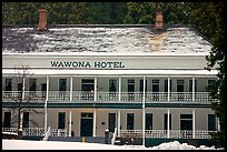 Wawona hotel in winter. Yosemite National Park ( color)
