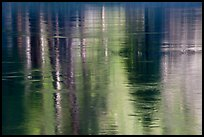 Spring reflections in Merced River. Yosemite National Park ( color)