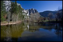 Merced River and Upper Yosemite Falls. Yosemite National Park ( color)