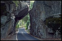 Arch Rock and road, Lower Merced Canyon. Yosemite National Park ( color)