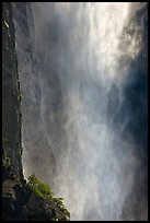 Falling water and spray, Bridalveil falls. Yosemite National Park ( color)