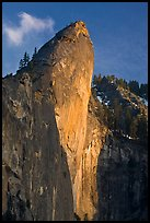 Leaning Tower, sunset. Yosemite National Park ( color)