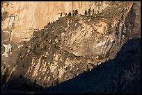 Ridges at the base of Half-Dome. Yosemite National Park ( color)