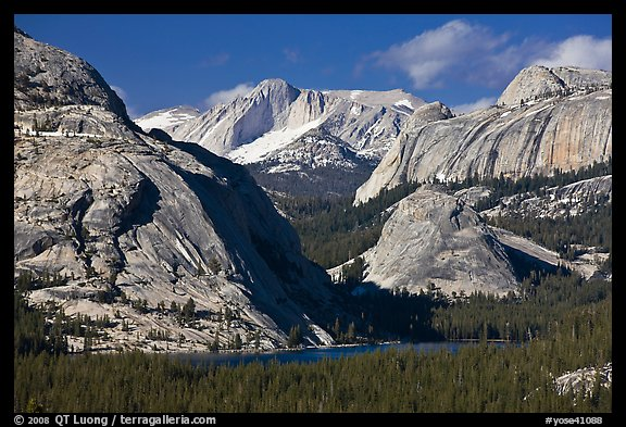 Tenaya Lake and granite domes. Yosemite National Park (color)