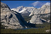 Tenaya Lake and granite domes. Yosemite National Park, California, USA. (color)