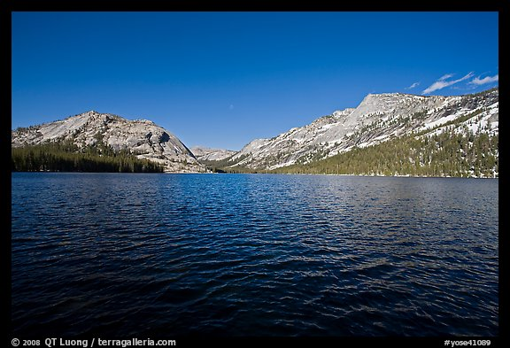 Tenaya Lake, afternoon. Yosemite National Park (color)