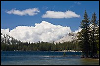 Tenaya Lake and clouds. Yosemite National Park, California, USA.