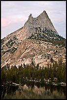 Cathedral Peak at sunset. Yosemite National Park ( color)