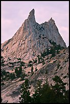 Spires on Cathedral Peak at sunset. Yosemite National Park ( color)