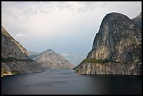 Kolana Rock and Hetch Hetchy reservoir, afternoon. Yosemite National Park, California, USA. (color)