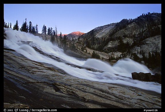 Waterwheel Falls, sunset. Yosemite National Park, California, USA.