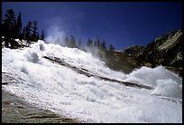 Turbulent waters of Waterwheel Falls in early summer. Yosemite National Park, California, USA.