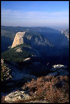 Half-Dome seen from Clouds rest, morning. Yosemite National Park, California, USA. (color)