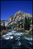 Tuolumne river on its way to the Canyon of the Tuolumne. Yosemite National Park, California, USA. (color)
