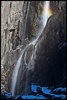 Lower Yosemite Falls in winter. Yosemite National Park, California, USA. (color)