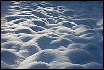 Rounded pattern of snow over grasses, Cook Meadow. Yosemite National Park ( color)