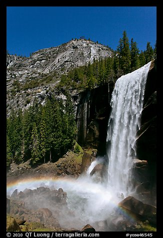 Vernal Fall with rainbow. Yosemite National Park (color)