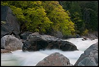 Merced River whitewater in spring. Yosemite National Park ( color)