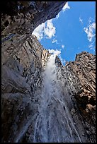 Ribbon Falls from amphitheatre. Yosemite National Park ( color)