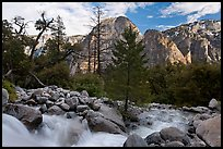 Creek flowing towards Valley and Cathedral Rocks. Yosemite National Park ( color)