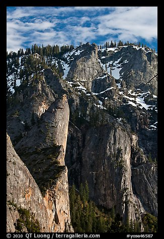 Leaning Tower and valley rim. Yosemite National Park (color)