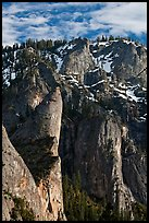 Leaning Tower and valley rim. Yosemite National Park ( color)