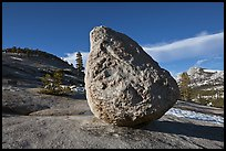 Glacial erratic on granite slabs near Olmstedt Point. Yosemite National Park ( color)