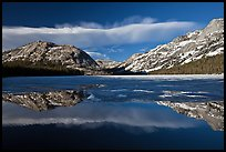 Spring thaw, Tenaya Lake. Yosemite National Park, California, USA. (color)