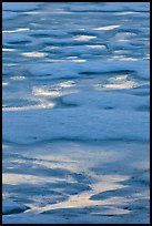 Melting snow pattern on lake. Yosemite National Park ( color)