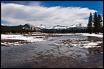 Flooded Twolumne Meadows in spring. Yosemite National Park, California, USA. (color)