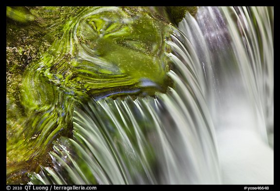 Fern Spring cascade. Yosemite National Park (color)