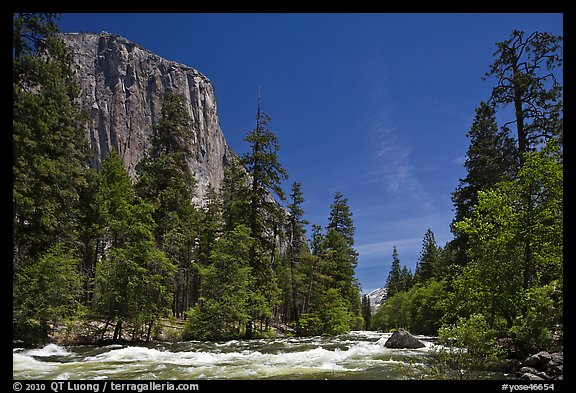 Merced River and El Capitan. Yosemite National Park (color)