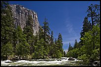 Merced River and El Capitan. Yosemite National Park ( color)
