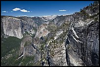 View of Bridalveil Fall and Yosemite Valley from Crocker Point. Yosemite National Park ( color)