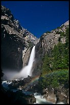 Lower Yosemite Fall with moonbow. Yosemite National Park ( color)